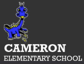 Cameron Elementary School Logo with name