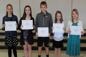 2016 Marshall County Young Writers 1st Place Winners