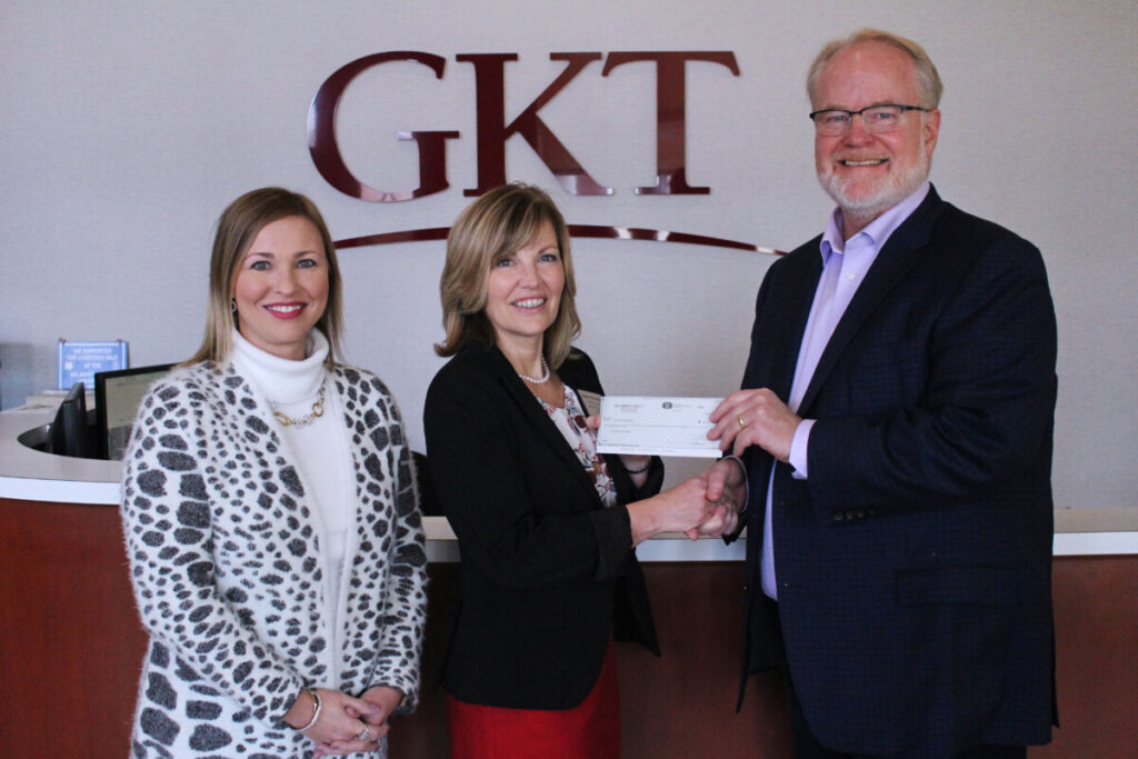 GKT Attorney Teena Miller, WV Teacher of the Year Jennifer Schwertfeger and GKT Attorney Christopher Turak.