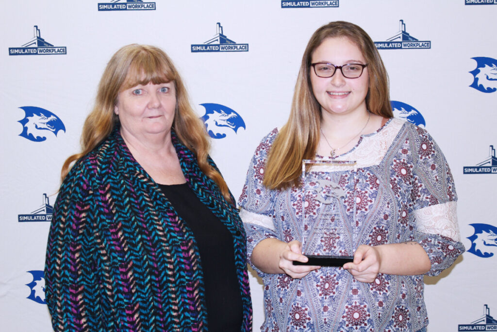 Pictured from left: Family-Consumer Science teacher Dorothy Price and CHS CTE Student of the Quarter Ashlee Evans.