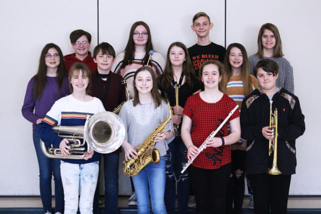 Pictured are the students who scored an Excellent rating. Row 1 from left: Lauren Rice, Shiloh Heath, Aven McGuire and Kayden Persinger. Row 2 from left: Penelope Petrucci, Zakk Wells, Marra Tharp and Alexis Gunn. Row 3 from left: Aubree Robinson, Tessa Hewitt, Jude Thomas and Brooke Sharp.