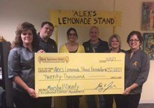 2017 Alex's Lemonade Stand Check Presentation Pic