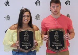 Dereck Hess and Lauren Garcia have earned the title of Mr. and Ms. Monarch at John Marshall High School for the 2017-2018 school year.