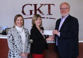 GKT Attorney Teena Miller, WV Teacher of the Year Jennifer Schwertfeger and GKT Attorney Christopher Turak.