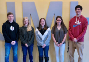 Pictured from left are the members of the JM LifeSmarts team: Zachary Bishop, Shelby Moore, Miranda Taylor, Whitney Coffield and Adam Miller.