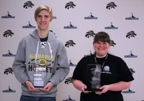 Abi Vargo and Wesley Eskridge have been named John Marshall High School Career & Technical Education Students of the Month for March.
