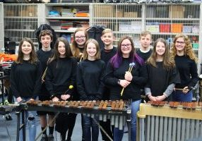 Ten Moundsville Middle School Band students, who make up the Large Percussion Ensemble, will be a featured act at the upcoming Arts Alive exhibition at the Charleston Municipal Auditorium this Friday.