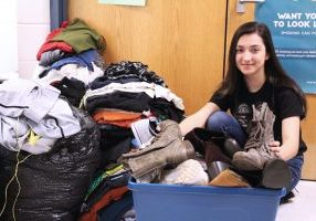 Moundsville Middle School 7th grader Tricia Ward organized a schoolwide clothing drive. It was so successful, the donations will be shared with Central Elementary students and Appalachian Outreach, Inc.