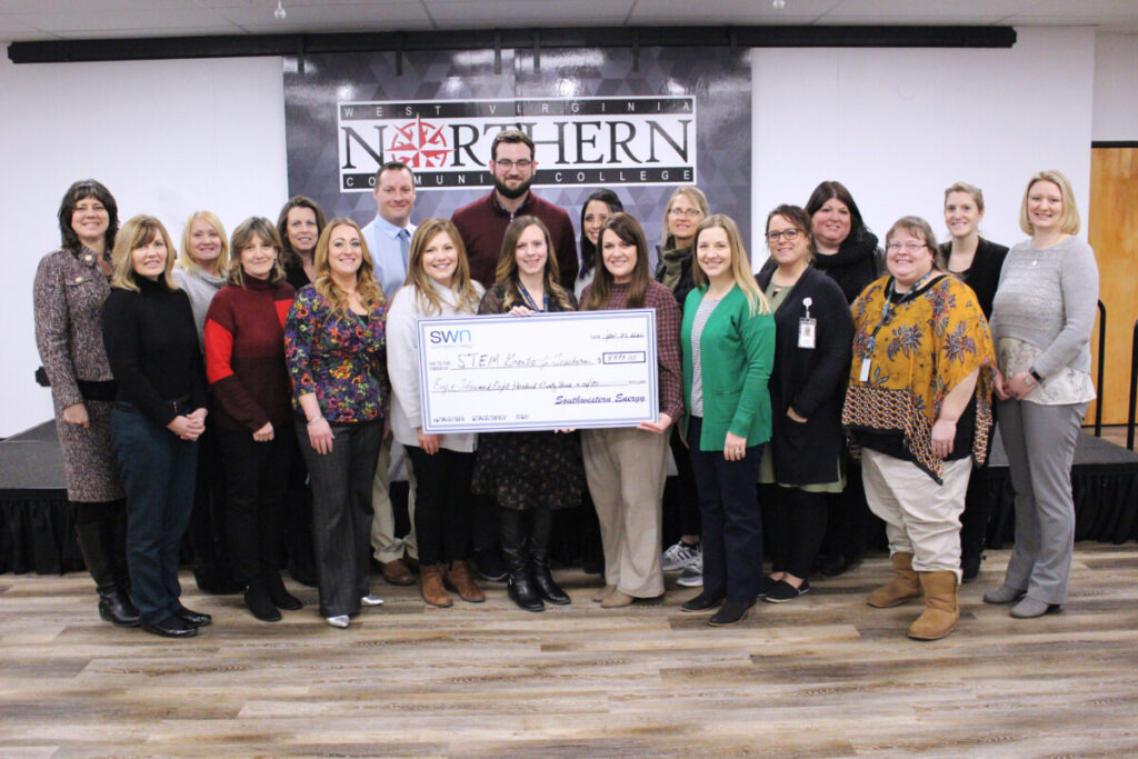 Left to Right Row 1 1. Jennifer Schwertfeger, Cameron High School 2. Debbie McKay, Wheeling Middle School 3. Julie Sturgill, Washington Lands Elementary School 4. Amy Dobkin, Southwestern Energy 5. Lori Healy, Washington Lands Elementary School 6. Bethani Tweedlie, Center McMechen Elementary School 7. Lara Himrod, Central Elementary School 8. Amanda Yates, Sherrard Middle School 9. Michelle Titus-Glover, Middle Creek Elementary Row 2 1. Diana Aston, Cameron High School 2. Jill Wilson, Washington Lands Elementary School 3. Shannon Young, Washington Lands Elementary School 4. Rob Chavanak, John Marshall High School 5. Josh Yost, Warwood Middle School 6. Allison Rine, Hilltop Elementary School 7. Joann VanHorn, Steenrod Elementary School 8. Brandy Lackie, West Liberty Elementary School 9. Ashley Wolfe, Middle Creek Elementary School 10. Melesa Swartz, West Liberty University