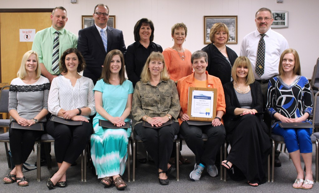Marshall County Teachers Honored at Board Meeting