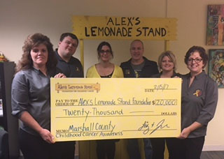 Childhood Cancer Awareness Group Makes Donation to Alex's Lemonade Stand