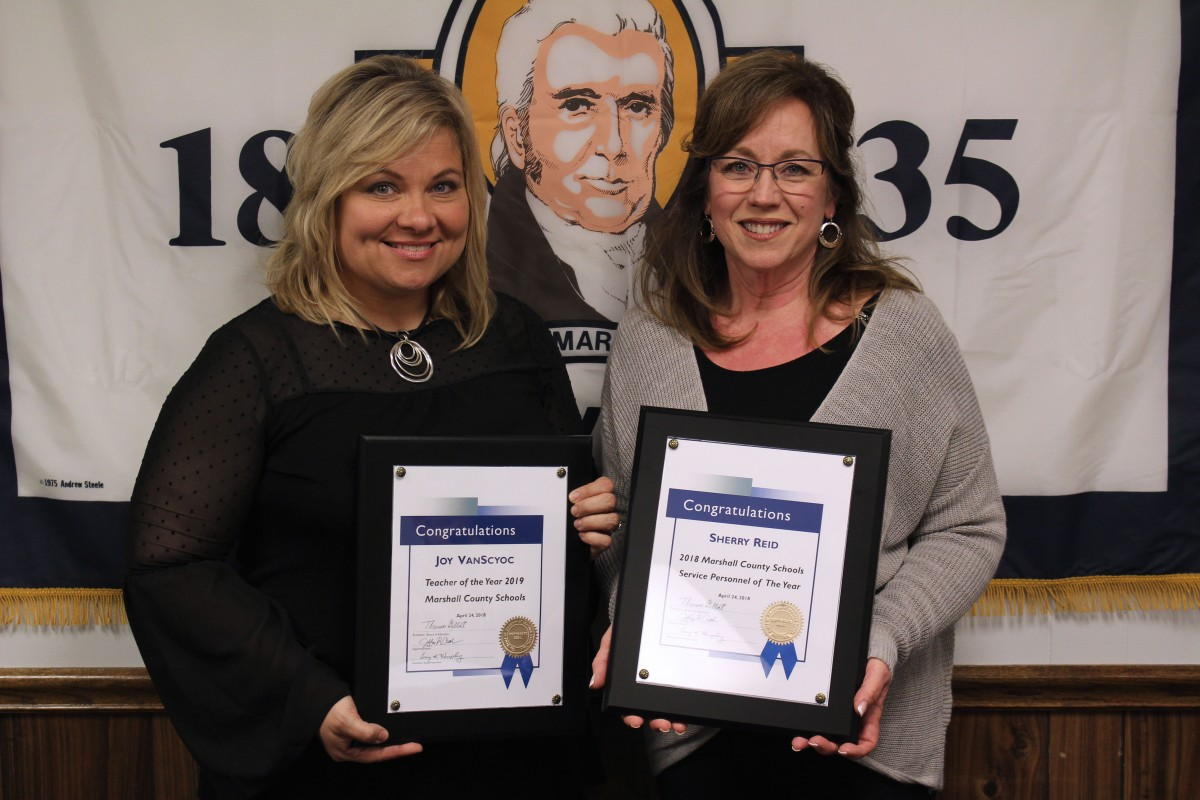 Marshall County Service Personnel Member of the Year and Teacher of the Year Named