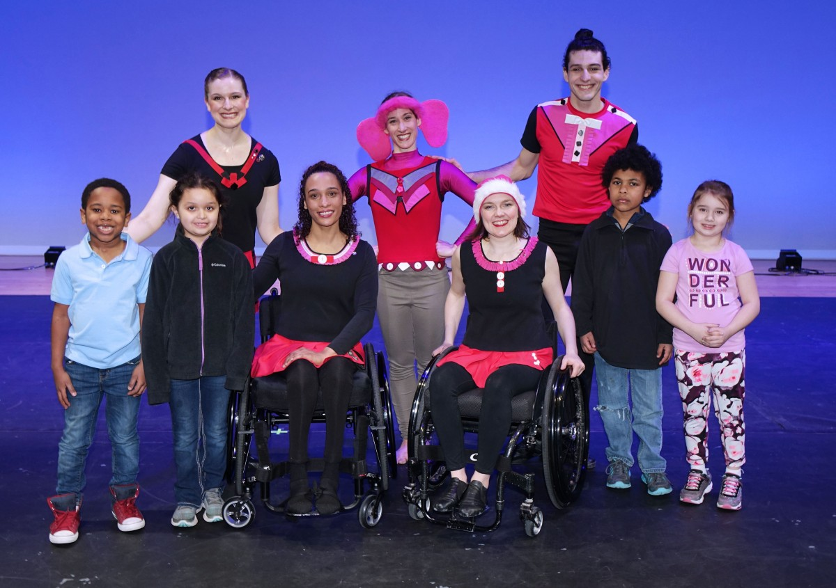 Dancing Wheels Physically Integrated Dance Company Performs for Students