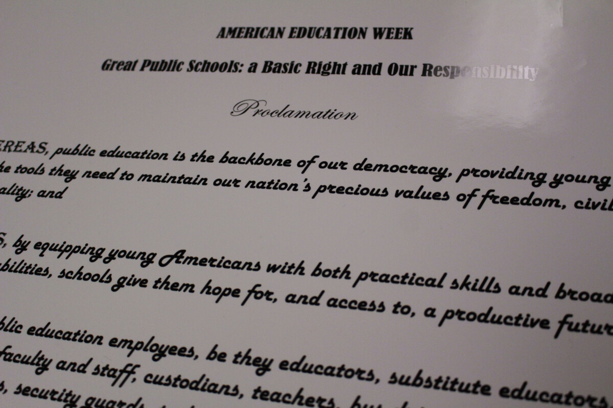 2019 American Education Week Proclamation Signed in Marshall County