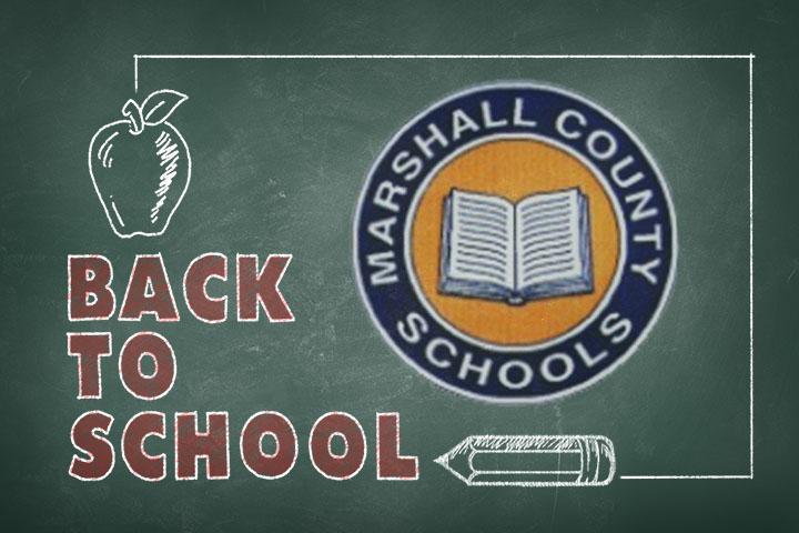 Chalkboard drawing of Marshall County Schools logo